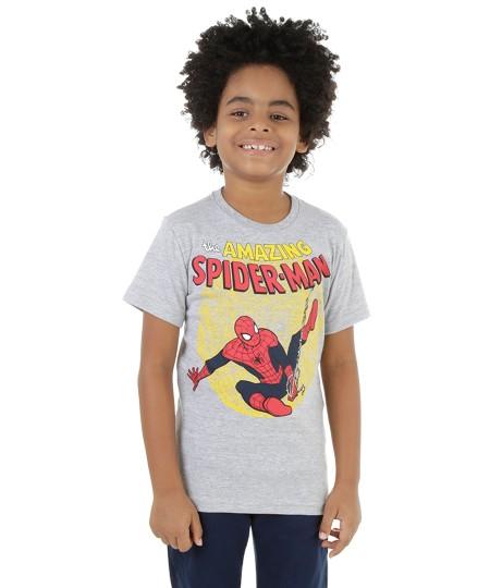 camisa homem aranha infantil