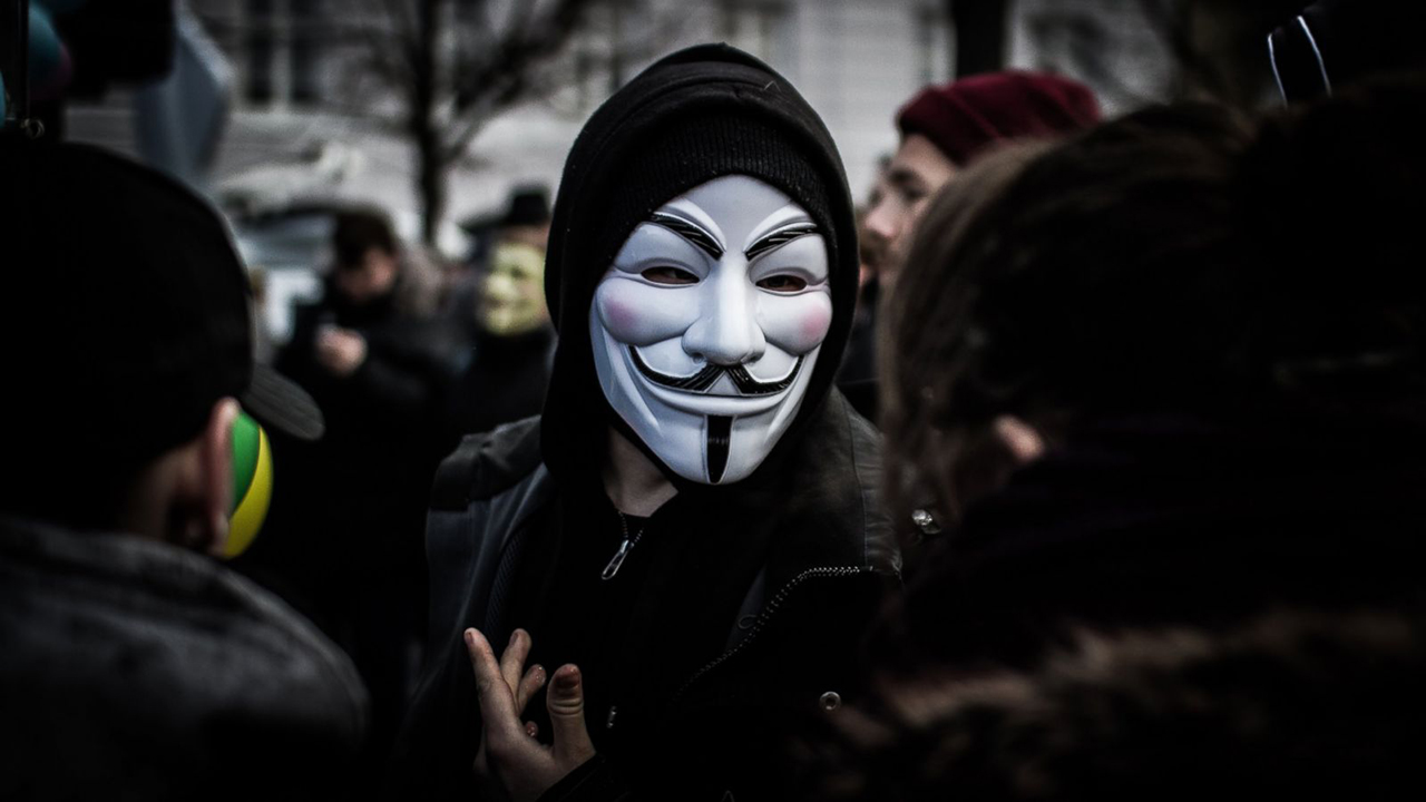 Simbol Hacker Anonimous Vendetta Mask