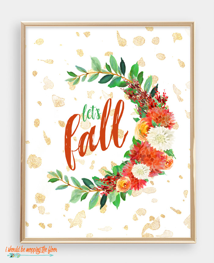 Let's Fall Printable