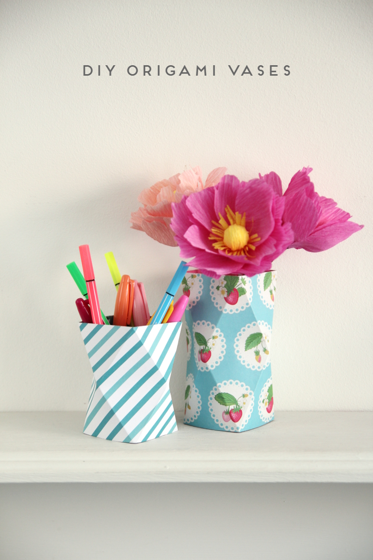 Things ive made from things ive pinned diy origami vases diy origami vases reviewsmspy