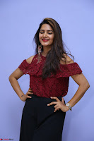 Pavani Gangireddy in Cute Black Skirt Maroon Top at 9 Movie Teaser Launch 5th May 2017  Exclusive 065.JPG