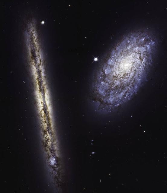 NGC 4302 (left) and NGC 4298