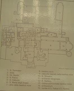Pianta delle Basiliche paleocristiane di Cimitile