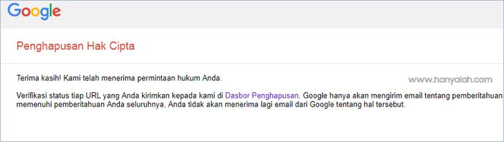 Cara Melaporkan Artikel Yang di Copas ke Google DMCA