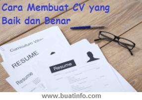 Buat Info - Cara Membuat CV yang Baik dan Benar