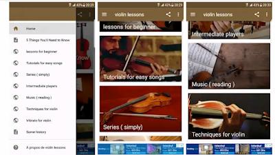 تطبيق دروس الة الكمان violon المجانية أساسيات العزف سلم موسيقي يلعب في العديد من النماذج