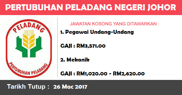 Jawatan Kosong di Pertubuhan Peladang Negeri Johor