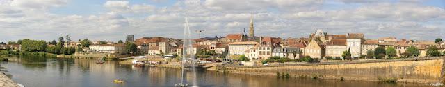 Panorama sulla cittadina di Bergerac