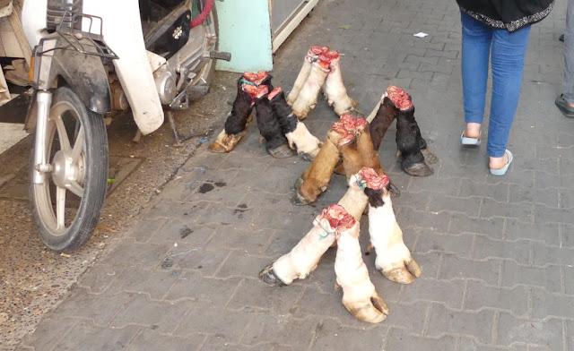 Souk in Marrakesch - Rinderfüße