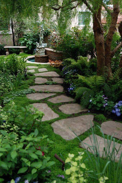 little stepping stones landscaping design