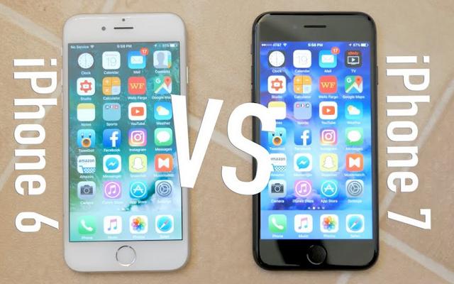 مقارنة بين iphone 6 و iphone 7