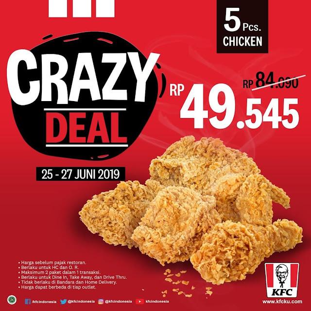#KFC - #Promo Crazy Deal 5 Ayam Hanya 49K (s.d 27 Juni 2019)