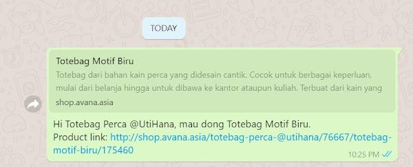 avana indonesia dengan fitur terintegrasi ke whatsapp