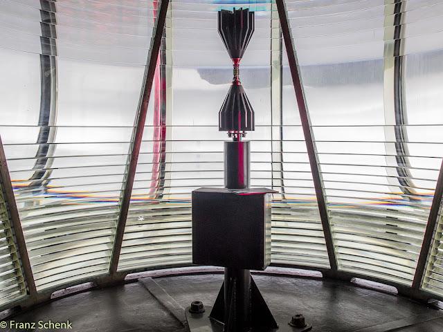 LED light in old prisma Valentia Lighthouse