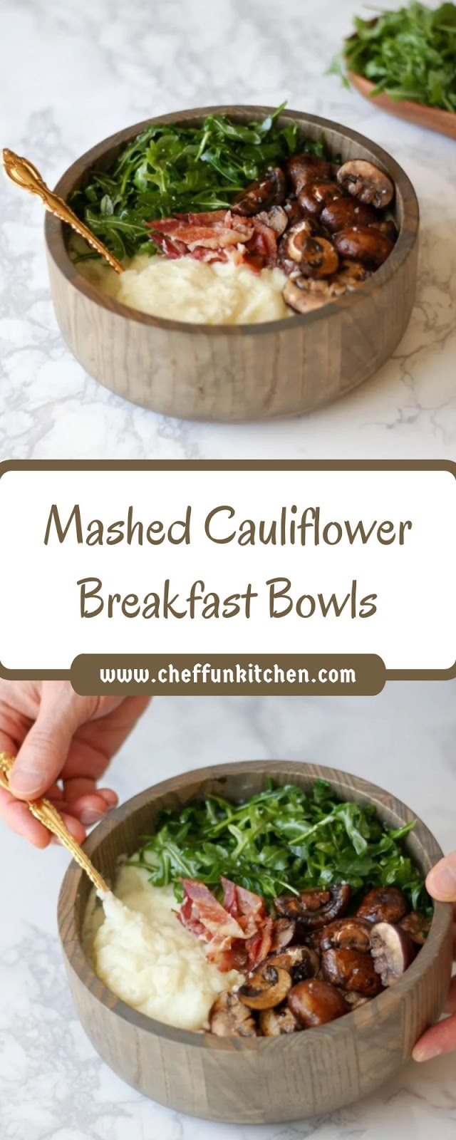 Mashed Cauliflower Breakfast Bowls