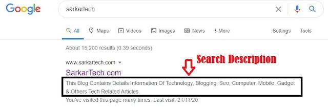 Search Description of sarkartech