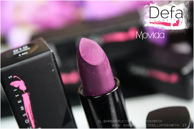 recensione movida Defa cosmetics lipstick