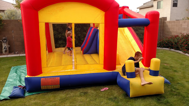 inflatable Toddler bounce house with slide combo