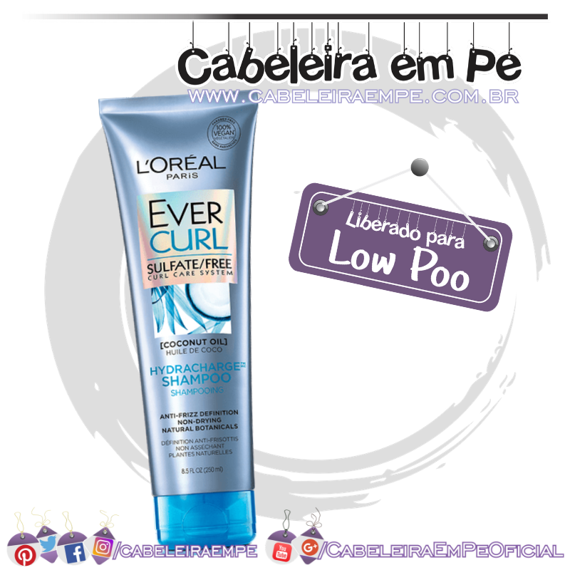 Shampoo Ever Curl - L'Oréal Paris (Low Poo)