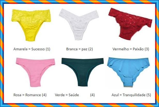 A Demillus dá sugestões de cores de calcinhas pra você passar a virada do ano, saiba o significados das cores.