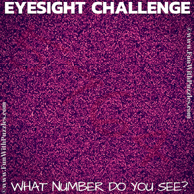 It is brain training puzzle in which you have to read the hidden number in given eyesight challenge picture puzzle