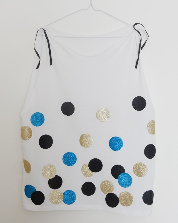 DIY t-shirt à pois