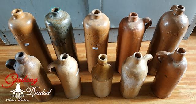 antiques stoneware bottle