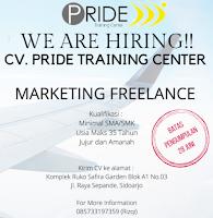 We Are Hiring at CV. Pride Training Center Sidoarjo Juni 2021