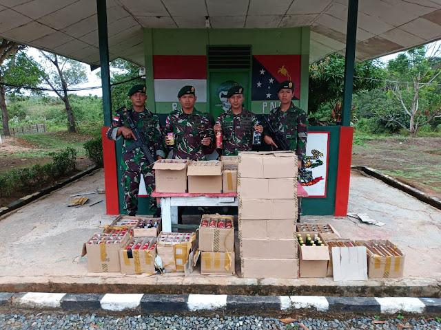 Lagi, 504 Botol Miras Ilegal Terjaring Sweeping di Jalan Trans Papua