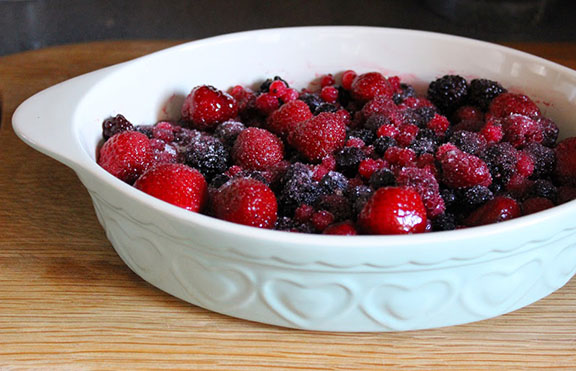 Summer berries in a dish