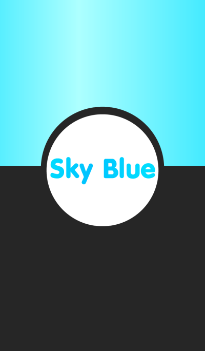 Simple Black & Sky Blue