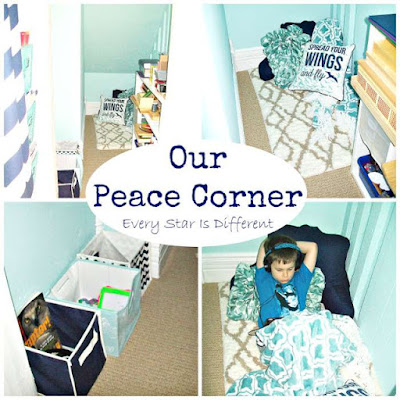 Our Montessori peace corner at home.