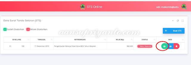 STS-Online, Cara Mengembalikan Kelebihan Dana BOS Propinsi Jateng