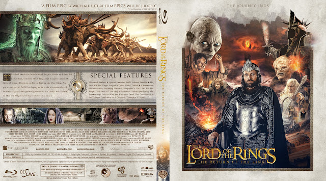 The Lord of the Rings: The Return of the King Bluray Cover
