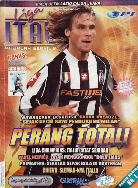 PAVEL NEDVED OF JUVENTUS ON FOOTBALL MAGAZINE COVER