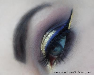 imprezowy złoto fioletowy makijaż