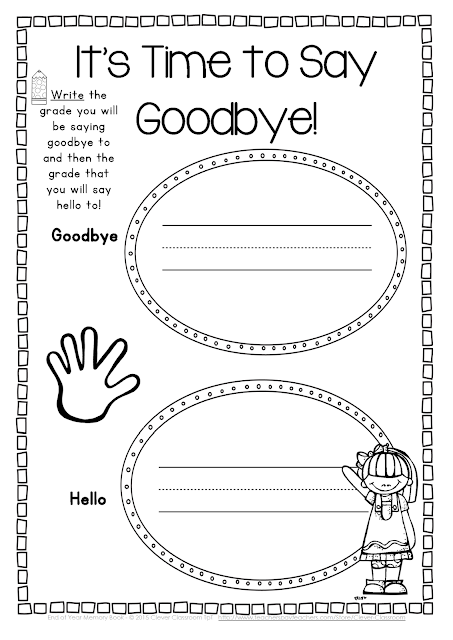 End of the Year Memory Book and Activities - Clever ...