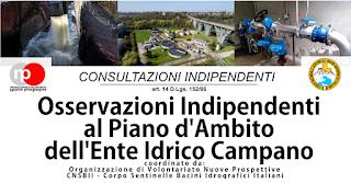 Evento   Osservazioni Indipendenti al Piano D'Ambito Regionale dell'Ente Idrico Campano