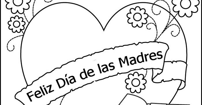 Dibujos Para Colorear Del Dia De Las Madres: Pinto Dibujos: Dibujo Del Día De Las Madres Para Colorear