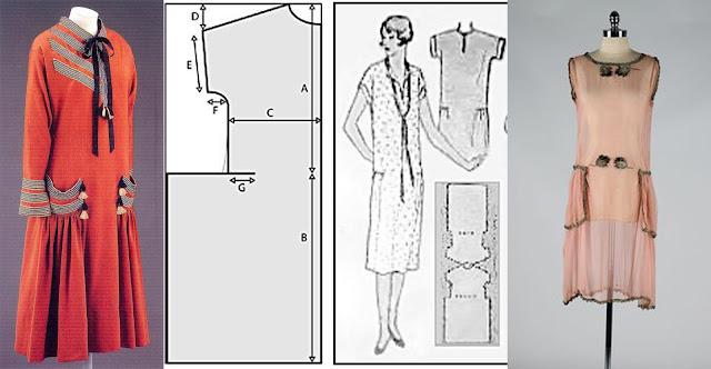 molde vestido anos 20