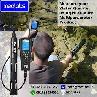Alat uji kualitas air multiparameter dissolved oxygen, turbidity, pH, BOD, Conductivity, Salinity, Total Dissolved Solid