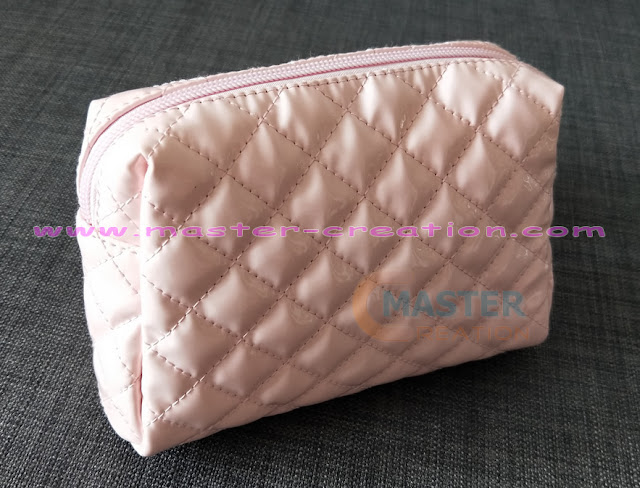quilted leather cosmetic bag