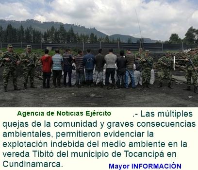 Capturadas en Cundinamarca nueve personas por contaminación del medio ambiente.