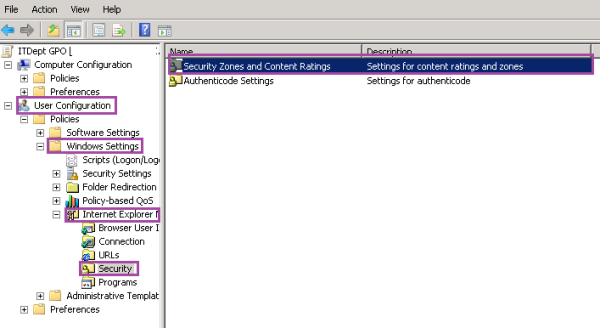 Group Policy Security Zones And Content Ratings