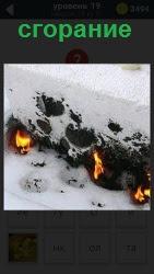 800 слов под снегом происходит сгорание предмета 19 уровень