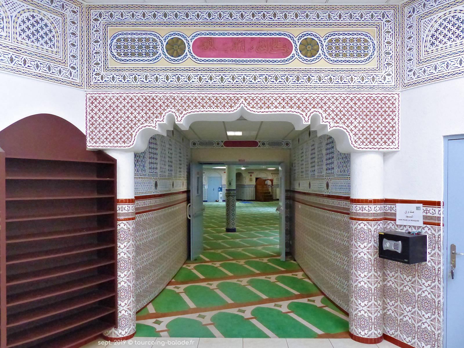 Mosquée Assalam - Entrée de la salle de prière