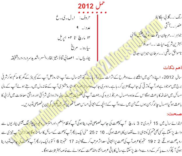 horoscope in urdu aries stone