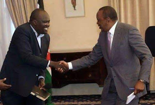 Robert Alai with the president at statehouse. PHOTO | Courtesy