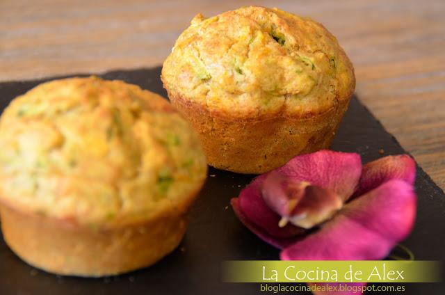 Muffins De Calabacín, Zanahoria Y Jengibre