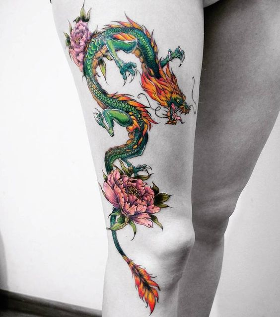 22 Badass Dragon Tattoos For Girls